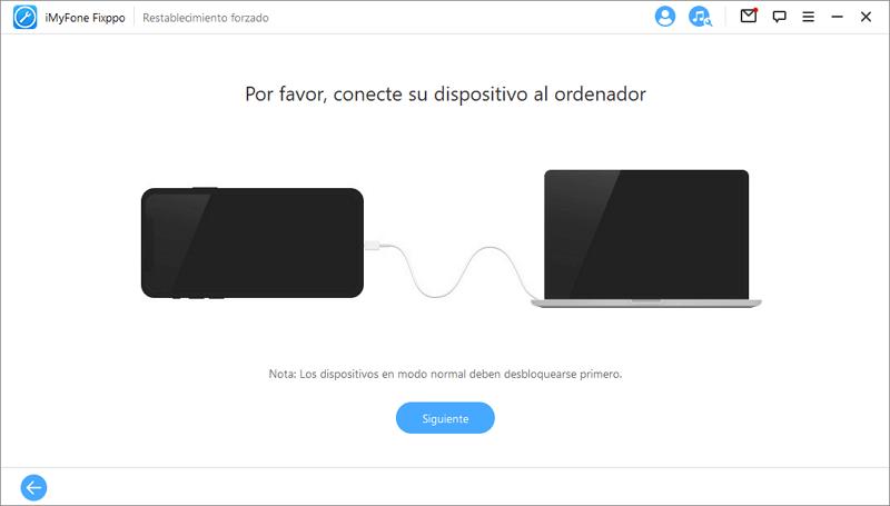 Conecte el dispositivo a la computadora a través de USB