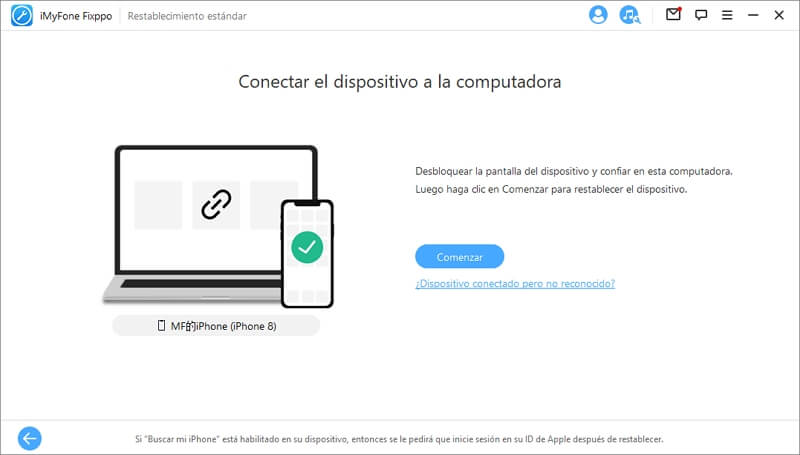 Conecta el dispositivo al pc