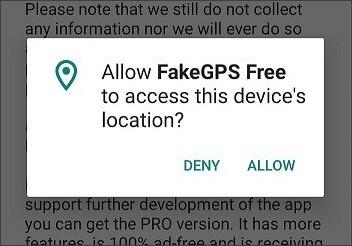 permitir que los GPS falsos vayan al lugar de acceso