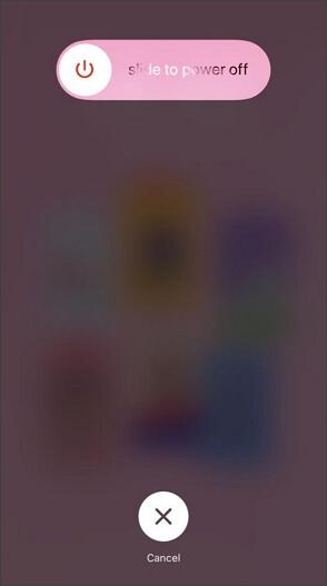 el deslizador de apagado aparece en el iphone