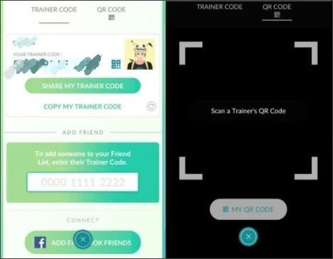 agregar códigos de amigo de pokemon go