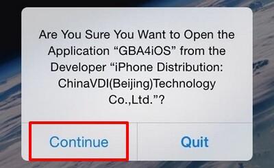 acceda a la aplicación GBA4iOS en su iphone