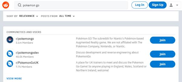 encontrar amigos de Pokemon go en Reddit