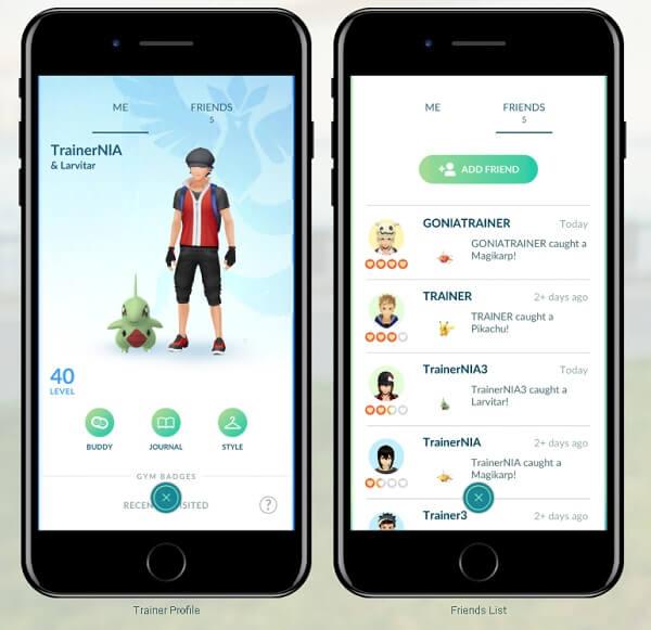 añadir amigo en Pokémon go