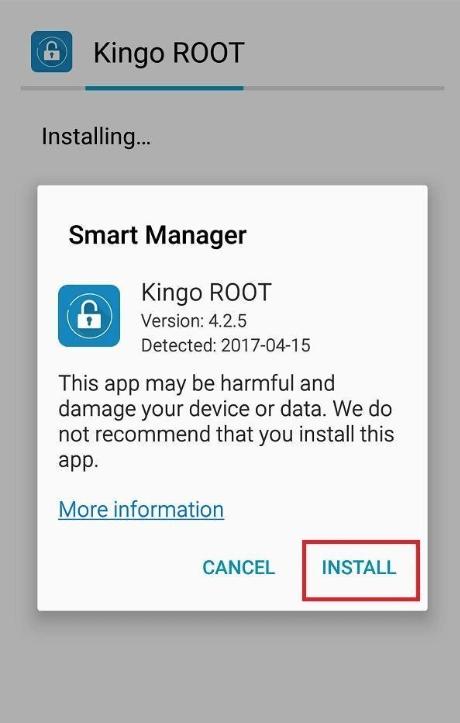 Instale la app de KingoRoot