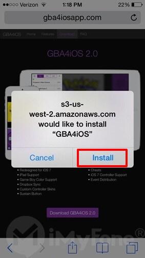 instale GBA4iOS en iphone
