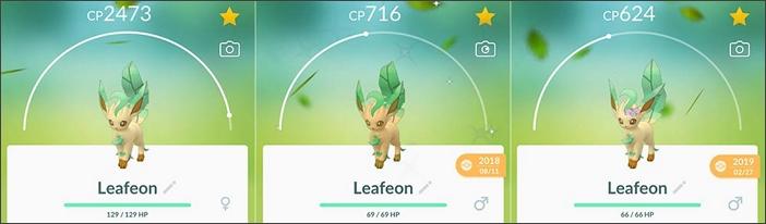 familia de los leafeon