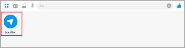 tocar el boton de ubicación en Messenger