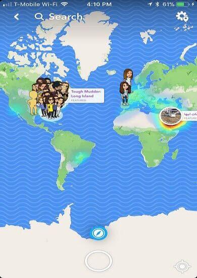 ubicación cambiada en snapchat