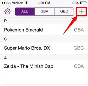 """haga clic en el icono """"+"""" para descargar el juego"""