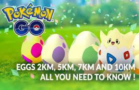 cuatro tipos de huevos de Pokémon Go