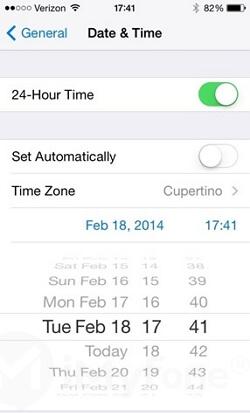 cambie la fecha en su iphone