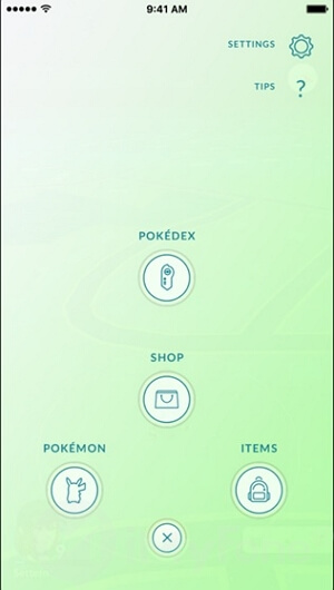 configuración de pokemon go