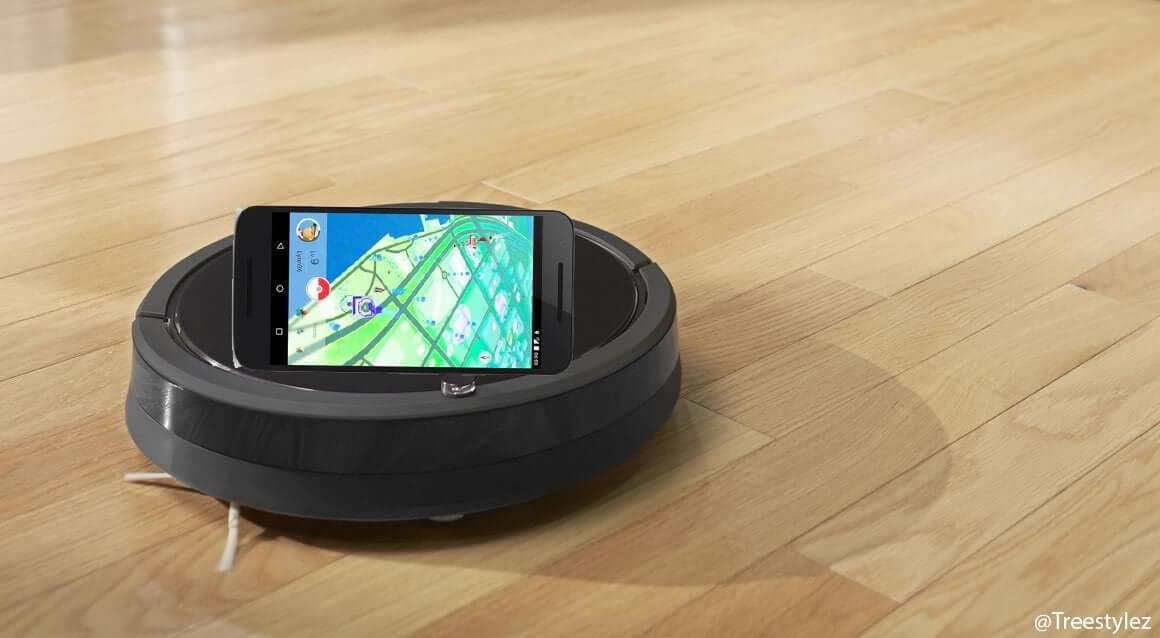 Usar una Roomba para incubar huevos en Pokémon Go