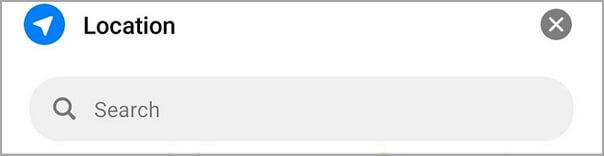 buscar ubicación mediante barra de búsqueda en Messenger
