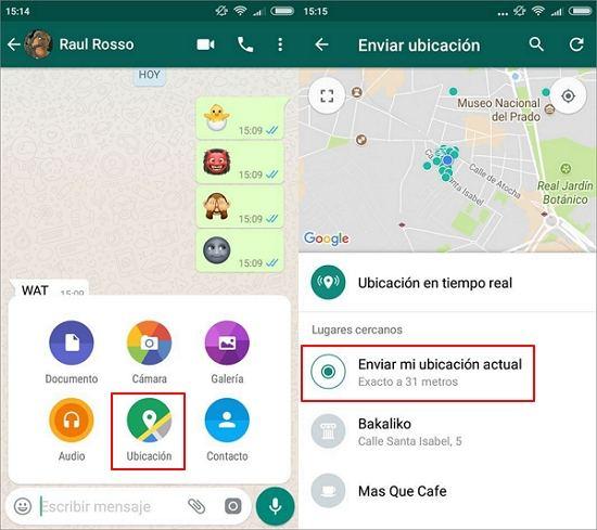 compartir ubicacion por whatsapp