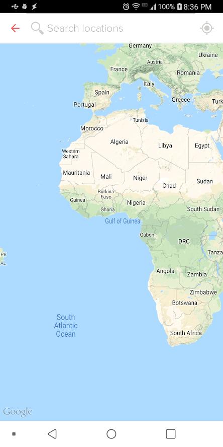 elegir aplicación para simular ubicación