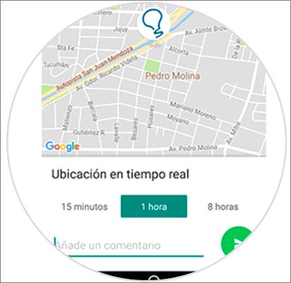 Ubicación en tiempo real falsa de WhatsApp