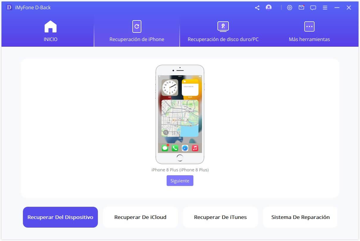 D-Back recuperar en los dispositivos iOS