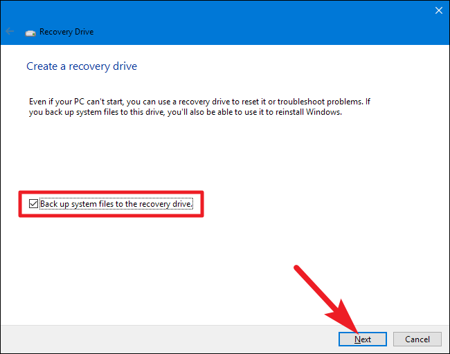 respaldar los archivos del sistema a la partición de recuperación