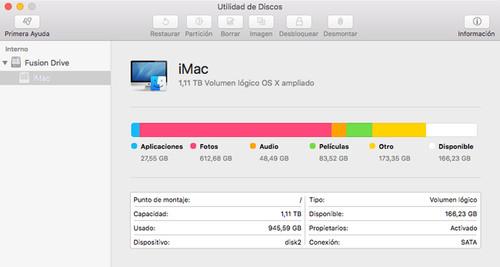 selecciona la utilidad de discos en Mac