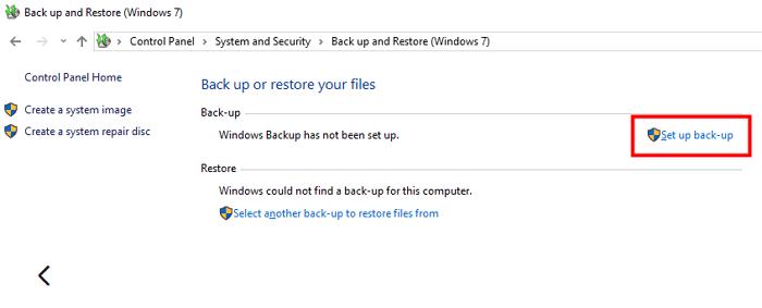 configurar copia de seguridad