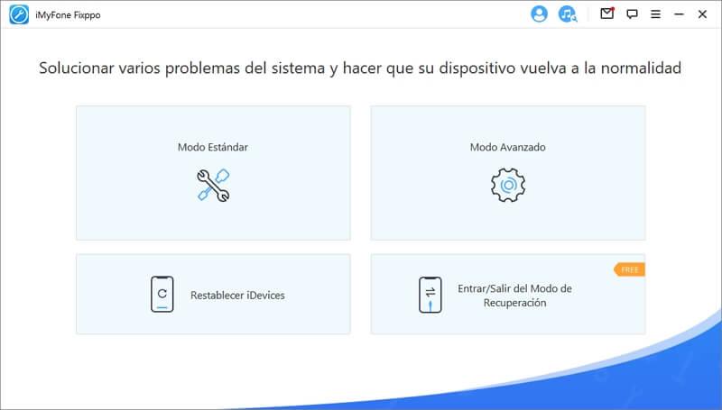 interfaz de recuperación del sistema iOS