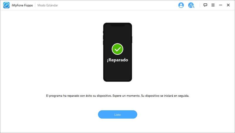 la reparación del iOS está completo