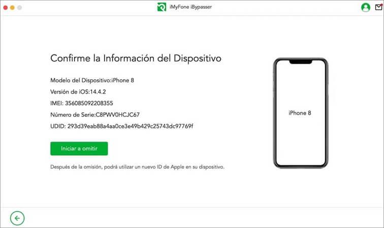 Iniciar desbloqueo iMyFone LockWiper