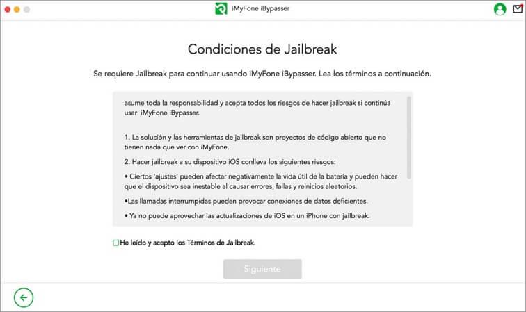 Condiciones del Jailbreak