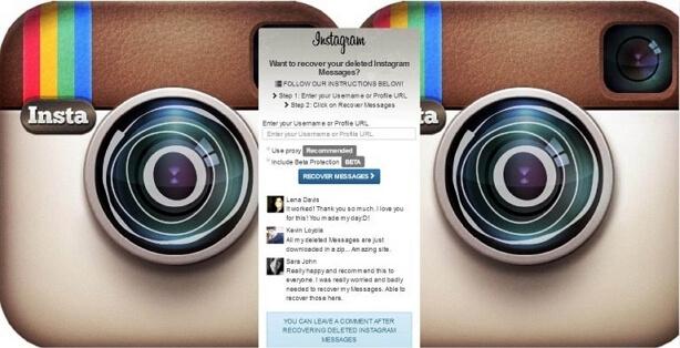 recuperar mensajes de Instagram eliminados online