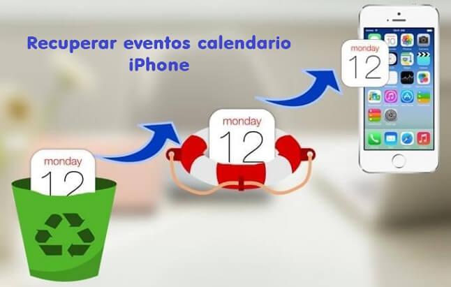 recuperar eventos del calendario del iPhone