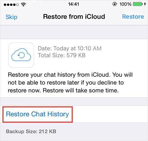 Restaurar fotos eliminadas del backup del chat de WhatsApp