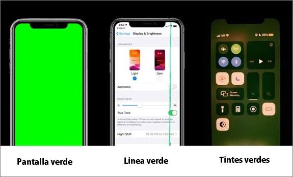 como arreglar la pantalla verde del iphone