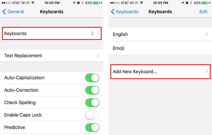 Agregar un nuevo teclado