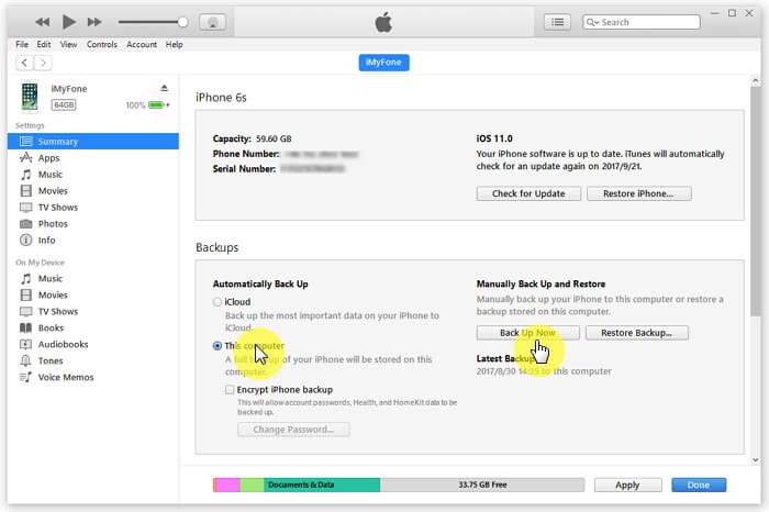 Copia de seguridad del iPad antes de reparar ipad