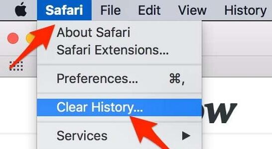 Borrar el historial de safari mac