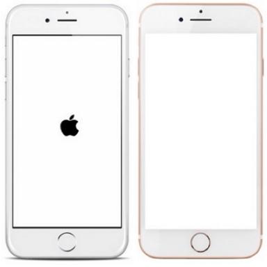 iphone pantalla blanca manzana negra