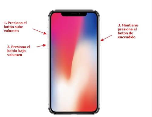 reinicio forzado iPhone x