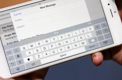 El teclado del iPhone