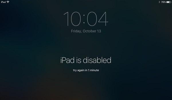 iPad deshabilitado