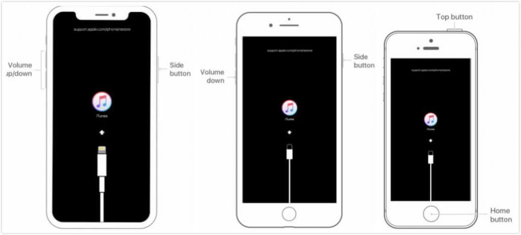 Pon el iPhone en modo recuperación