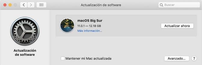 Actualizar software de macOS