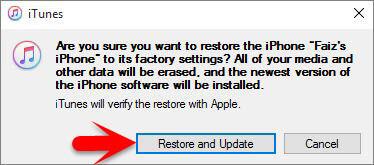 Restaurar y Actualizar iPhone