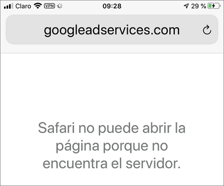 Safari no encuentra el servidor