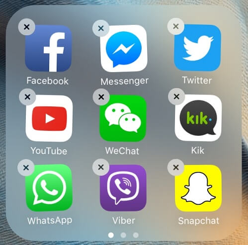 desinstalar las apps no usas