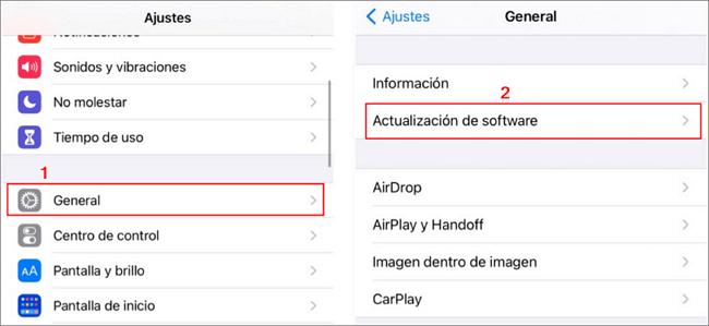 actualizar iphone para reparar la pantalla roja del iphone