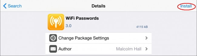 Ver contraseña wifi iPhone/iPad con Jailbreak