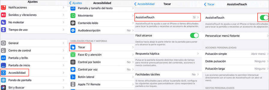 activar AssistiveTouch en iPhone