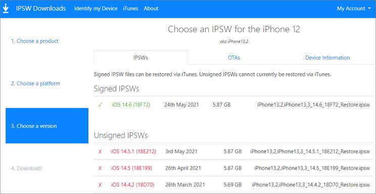 hacer downgrade de iOS sin jailbreak